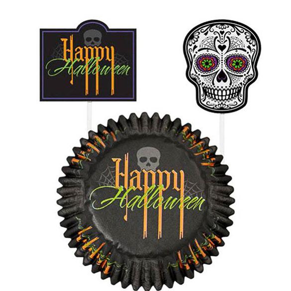 Decoración cupcakes Halloween, Pack 24 u.