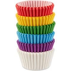 Cápsulas mini cupcakes 6 colores, Pack 150 u.