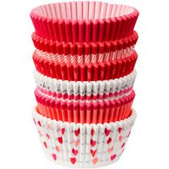 Cápsulas cupcakes enamorados, 6 modelos, Pack 150 u.