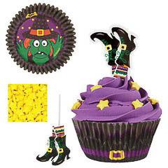 Decoración cupcakes bruja, Pack 24 u.