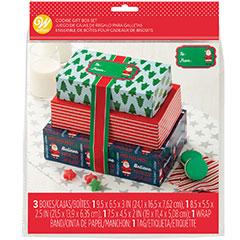 Cajas dulces Navidad, set 3 u.