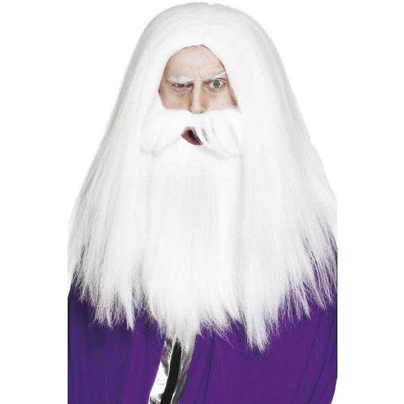 Peluca y barba mago Merlin