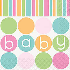 Servilletas Baby Shower 33 x 33 cm, Pack 16 u.