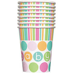 Vasos Baby Shower, Pack 8 u.
