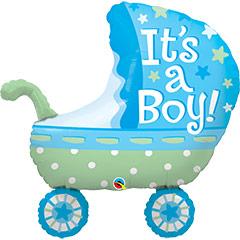 Globo cochecito bebé niño