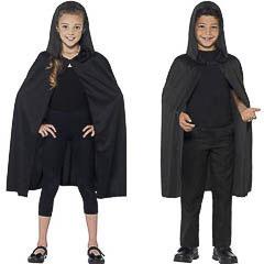 Capa negra con capucha infantil - Ítem