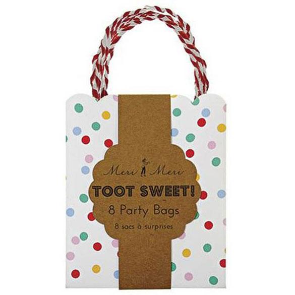 Pack 8 bolsas lunares colores regalo y piñata