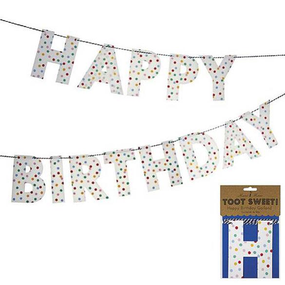 Guirnalda Happy Birthday Blanca