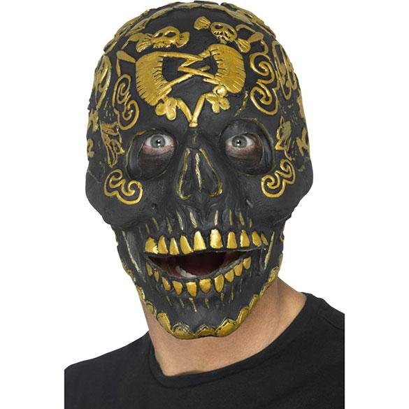 Máscara calavera negra