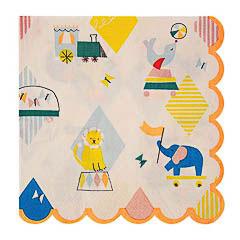 Servilletas Circo 16,5 x 16,5 cm, Pack 20 u. - Ítem