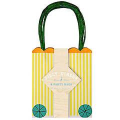 Pack 8 bolsas rayas amarillas regalo y piñata