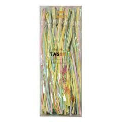 Guirnalda 12 borlas con flecos colores pastel nacarado