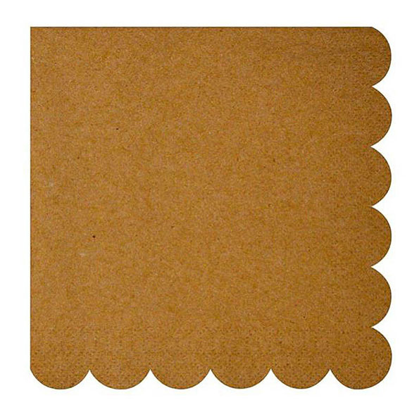 Servilletas color Craft 16,5 x 16,5 cm, Pack 20 u.
