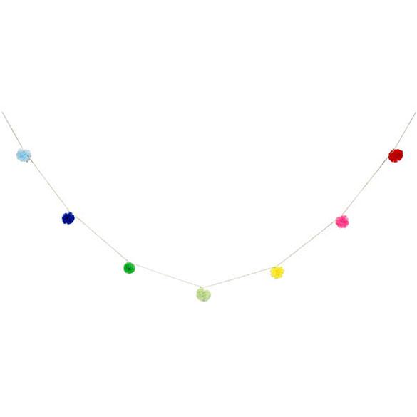 Guirnalda 9 pompones colores surtidos mini