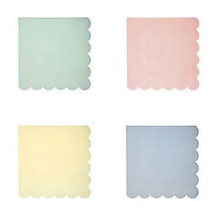 Servilletas Colores Pastel 12,5 x 12,5 cm, Pack 20 u.