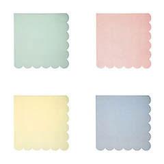 Servilletas Colores Pastel 12,5 x 12,5 cm, Pack 20 u. - Ítem