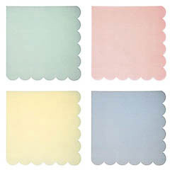 Servilletas Colores Pastel 16,5 x 16,5 cm, Pack 20 u.