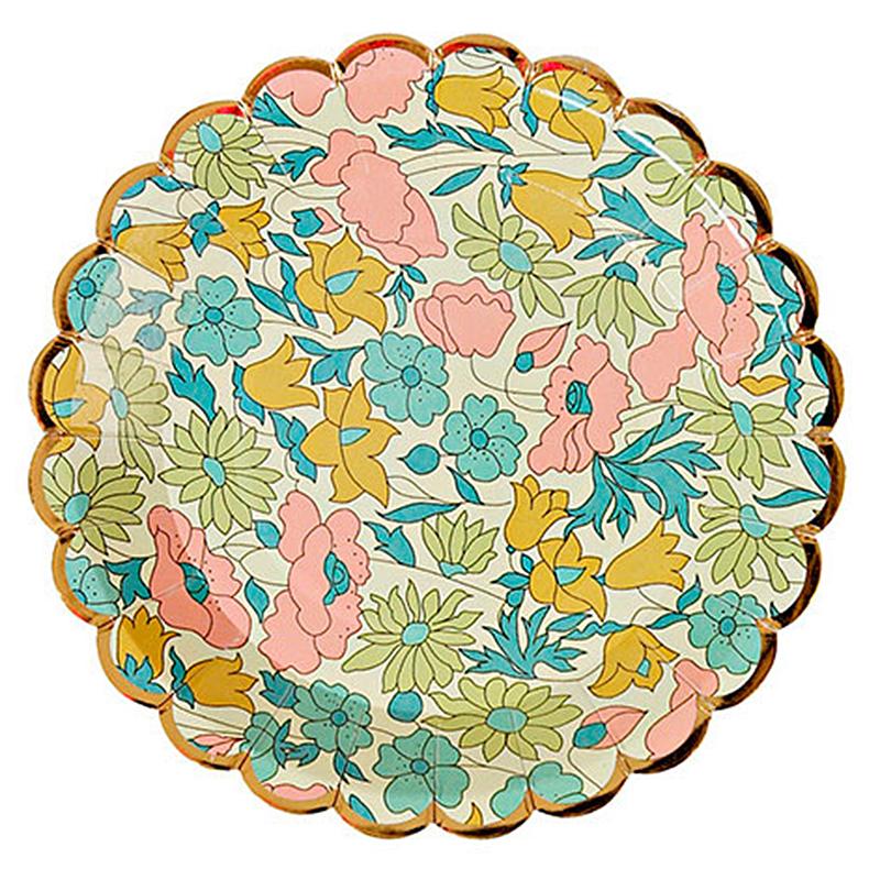 Platos Liberty flores mini, Pack 8 u.