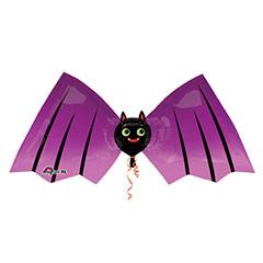 Globo Murciélago negro y morado