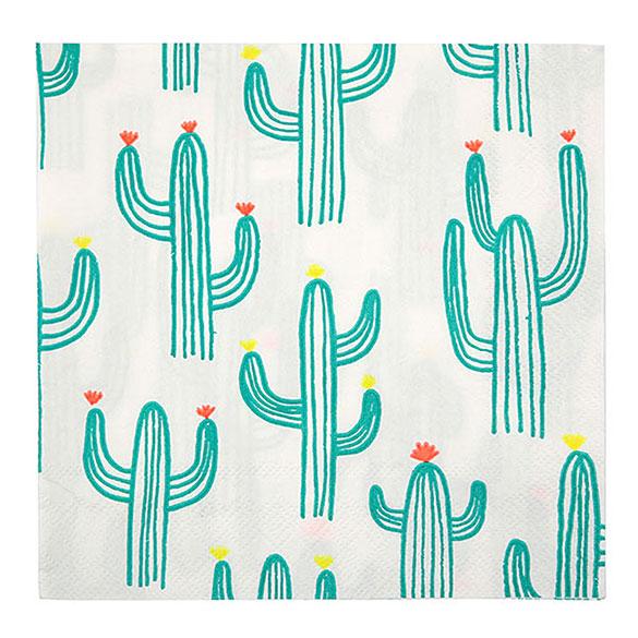 Servilletas Cactus 33 x 33 cm, Pack 20 u.