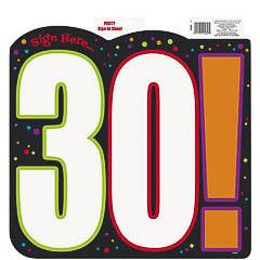 Decoración cartel 30 cumpleaños
