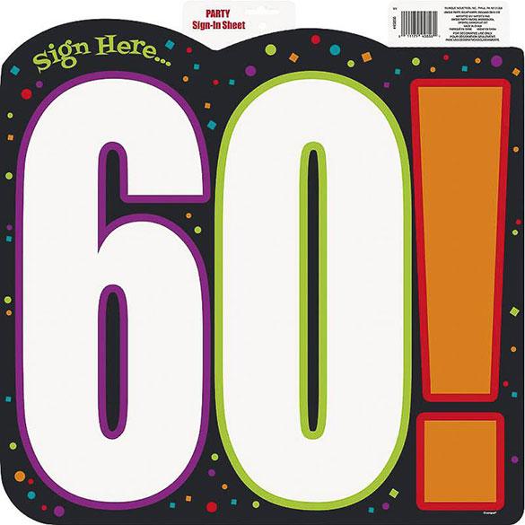 Decoración cartel 60 cumpleaños