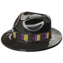 Sombrero gangster plástico 60 años