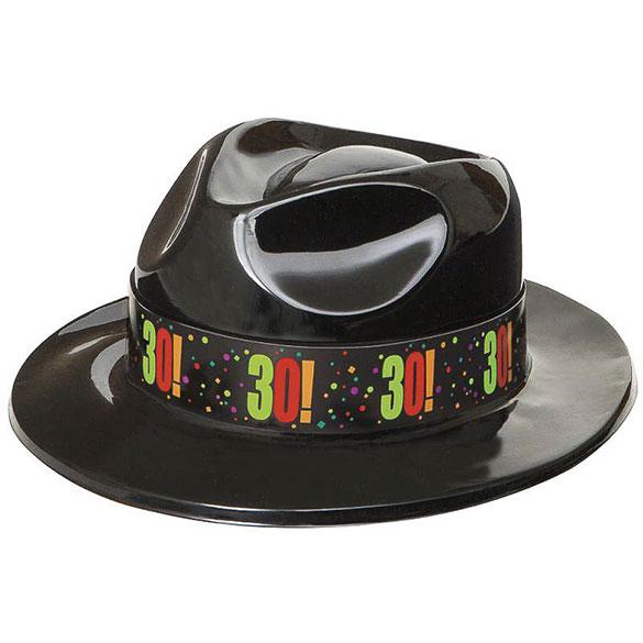 Sombrero gangster plástico 30 años
