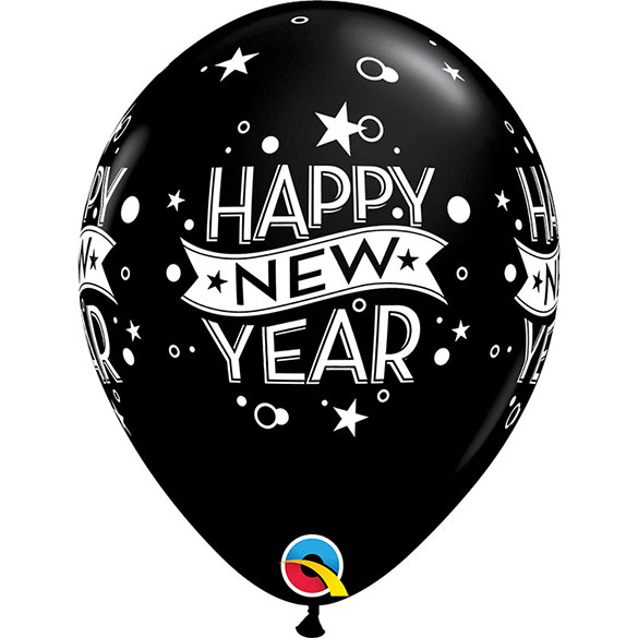 Globos Látex Happy New Year. Pack de 6 u.
