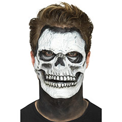 Careta esqueleto prótesis 2 piezas látex