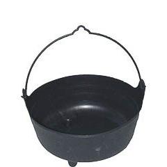 Caldero negro de bruja Halloween