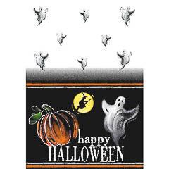 Mantel Happy Halloween 213 x 137 cm plástico, Pack 1 u.