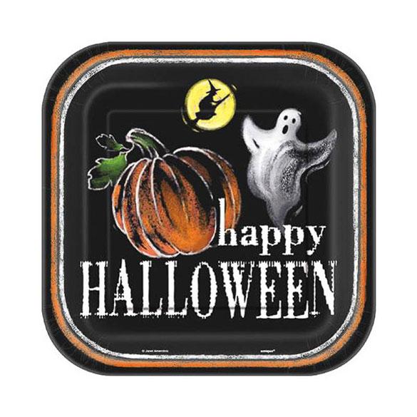 Platos Happy Halloween 17,50 cm, Pack 8 u.