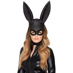 Máscara y collar conejita negra
