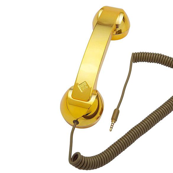 Auricular retro Pop Phone oro edición especial para iPhones, iPads y Smartphones