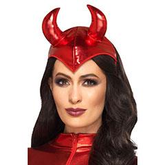 Diadema Mini Sombrero cuernos diablo