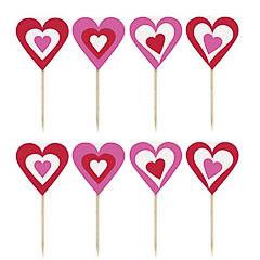 Pinchos decorativos corazones, Pack 8 u.
