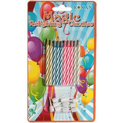 Velas cumpleaños mágicas, Pack 10 u.