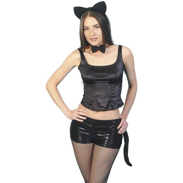Set gata/o negro adulto