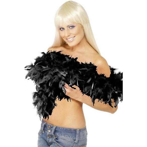 Boa de plumas negras 80 gr