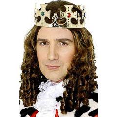 Corona rey de plástico