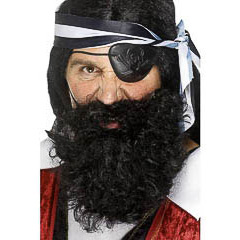 Barba y bigote negra