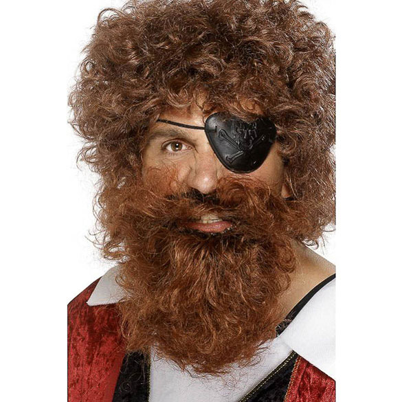 Barba y bigote marrón
