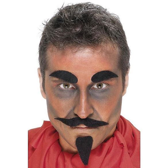 Bigote, barba y cejas