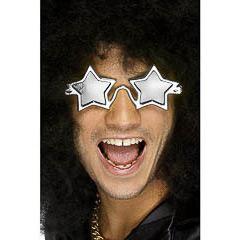 Gafas con forma de estrella plata