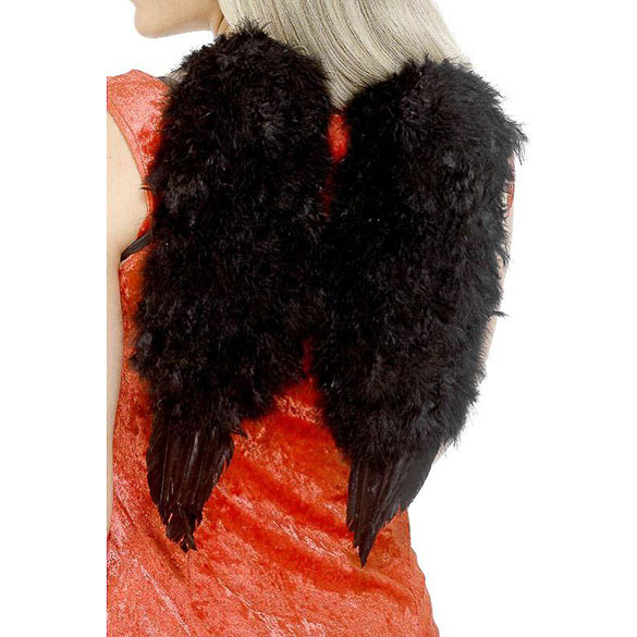 Alas ángel plumas negras