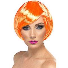 Peluca corta años 60 naranja