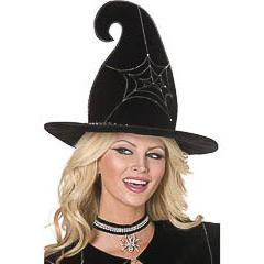 Sombrero de bruja dibujo telaraña