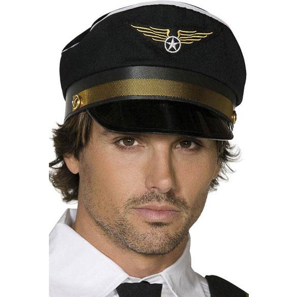 Gorra piloto comandante de avión