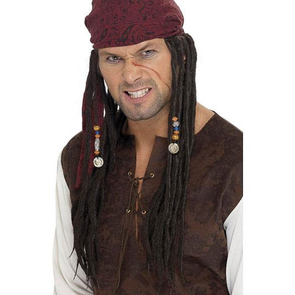 Peluca pirata con pañuelo